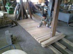 イチローズモルトセミナー 1樽分の木材を並べたら